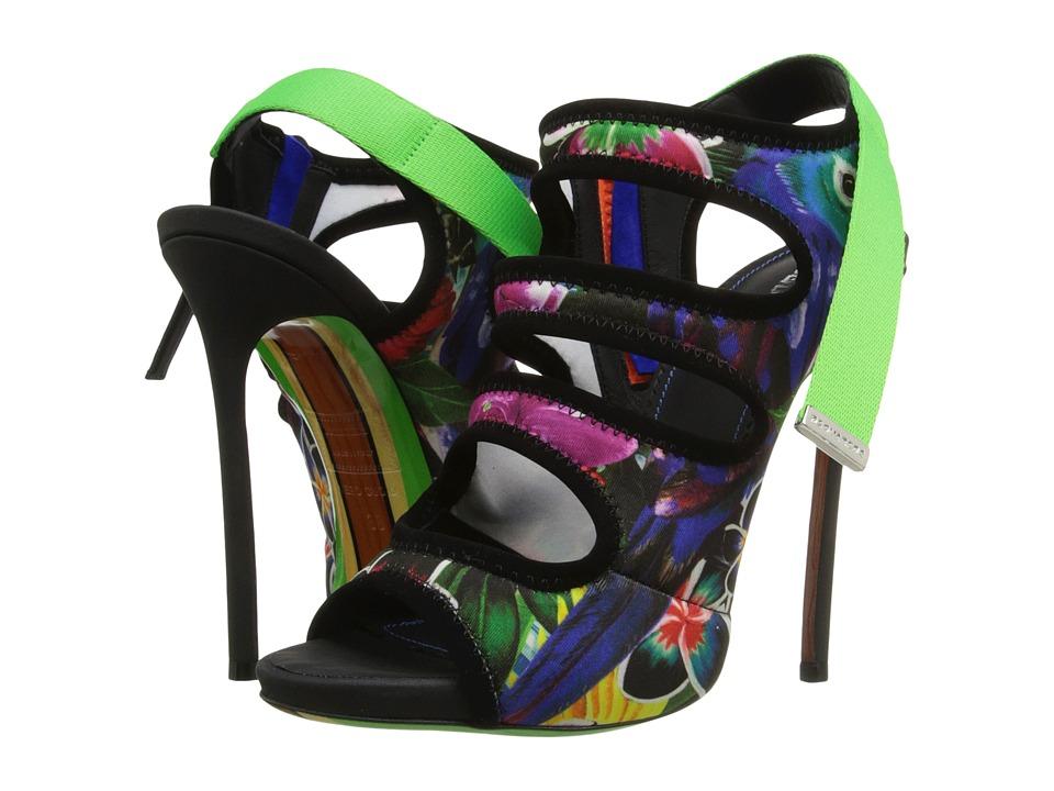 DSQUARED2 - Neoprene Stampa Paesaggio Sandal (Multicolor) High Heels