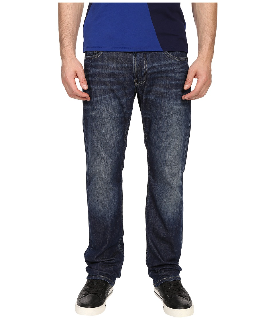 Armani Jeans - Regular Fit Button Fly Jeans in Denim (Denim) Men's Jeans
