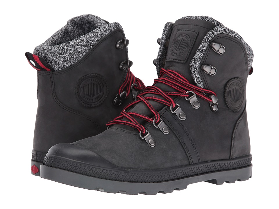 Palladium Pallabrouse Hikr LP (Black/Red/Castlerock) Women