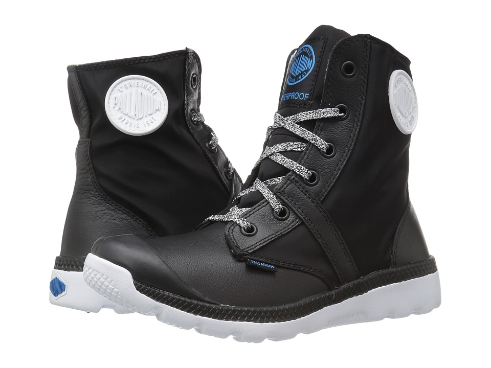 Palladium Pallaville Hi Rise WP (Black/White) Women