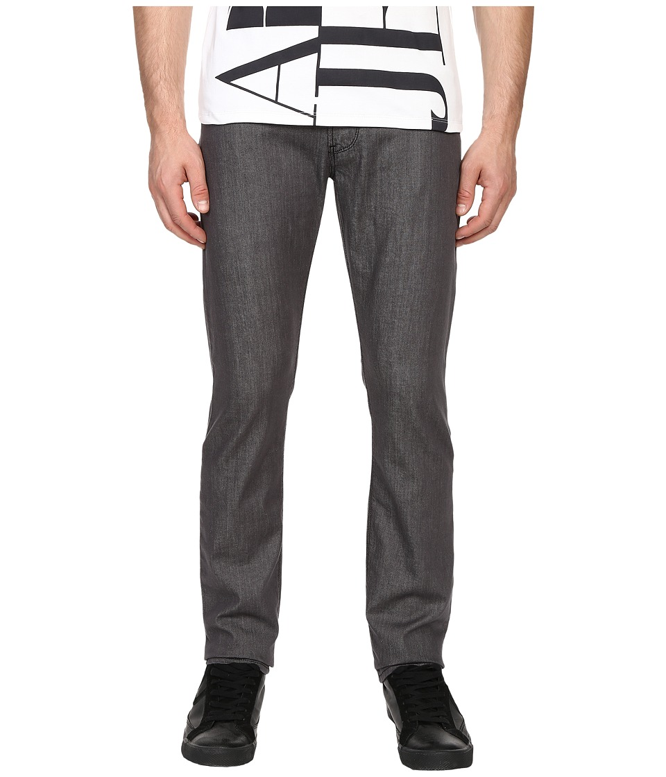 Armani Jeans - Slim Fit Zipper Closure Jeans in Grey (Grey) Men's Jeans