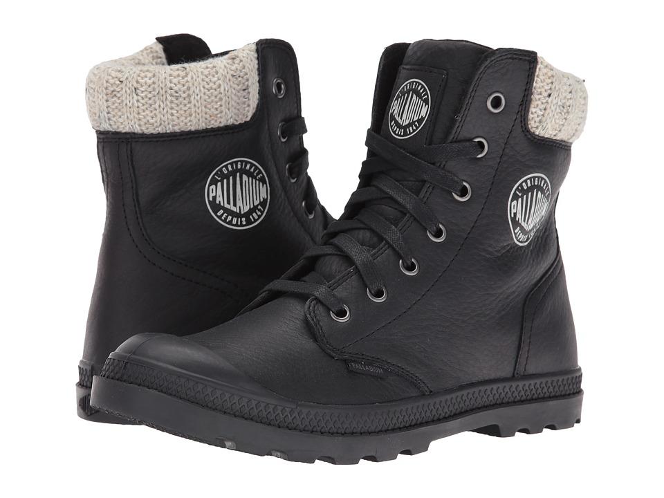 Palladium - Pampa Hi Knt LP (Black) Women's Lace up casual Shoes