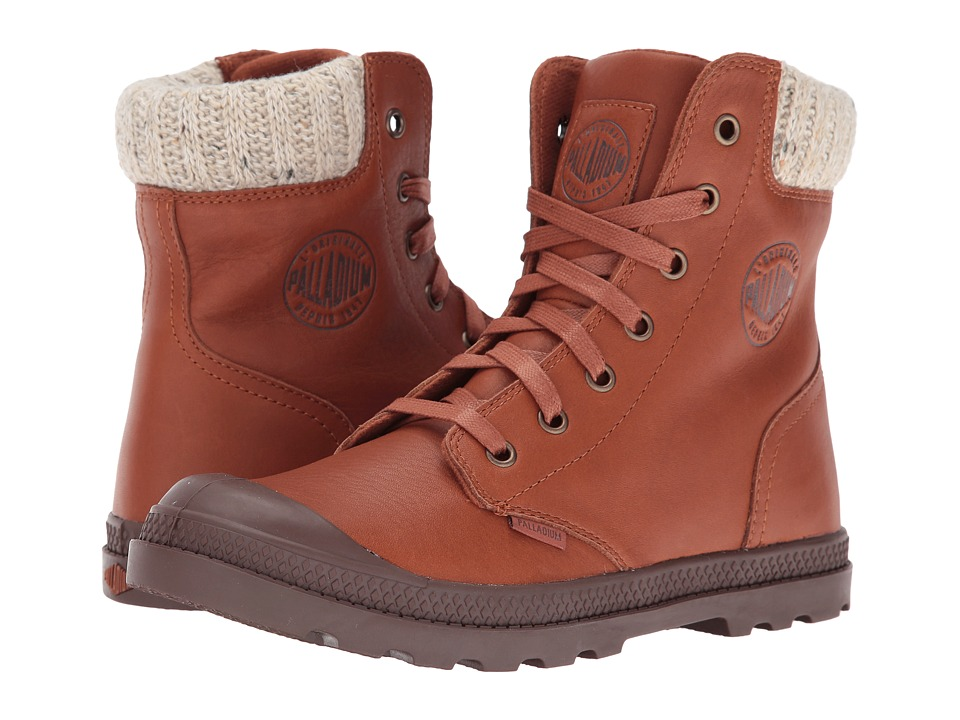 Palladium Pampa Hi Knt LP (Mocha Bisque/Chestnut) Women