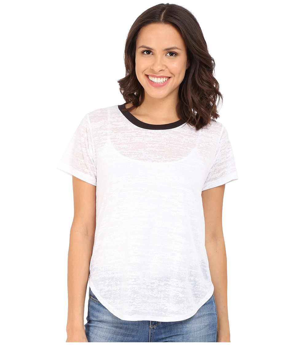 LNA - Ringer Tee (White/Black) Women's T Shirt