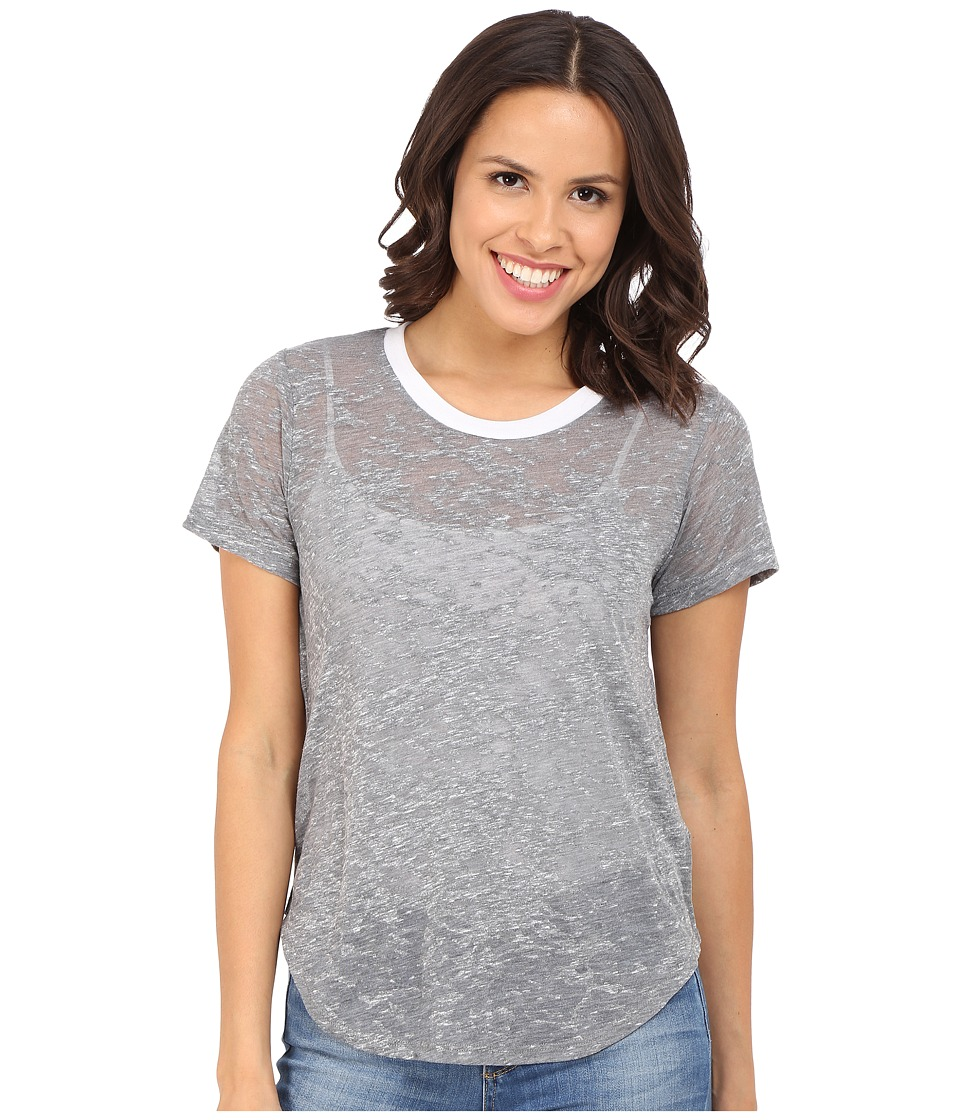 LNA - Ringer Tee (Heather Grey/White) Women's T Shirt