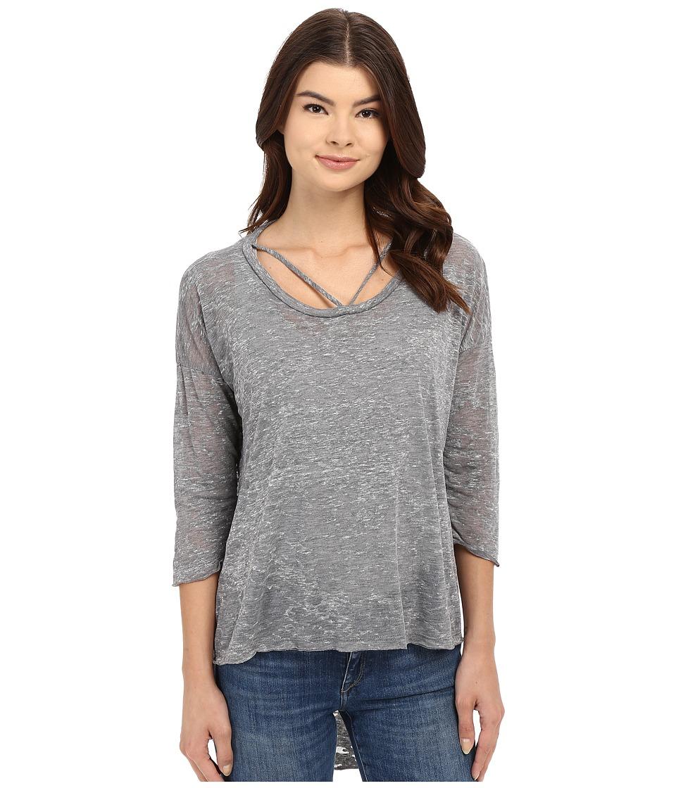 LNA - Cape Strap Tee (Heather Grey) Women's T Shirt