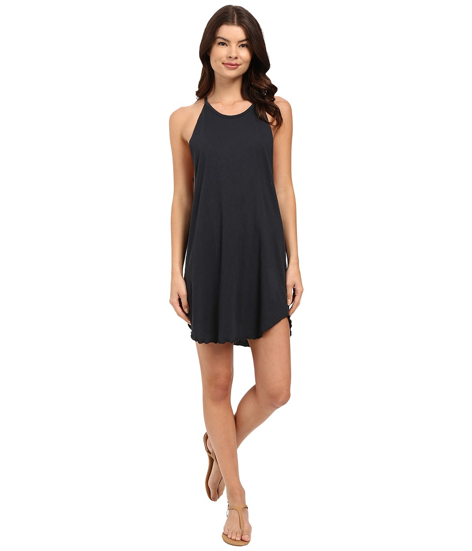 LNA Bib Tank Mini Dress (Faded Black) Women