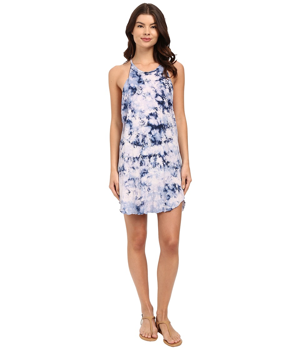 LNA - Bib Tank Mini Dress (Blue Tie-Dye) Women's Dress