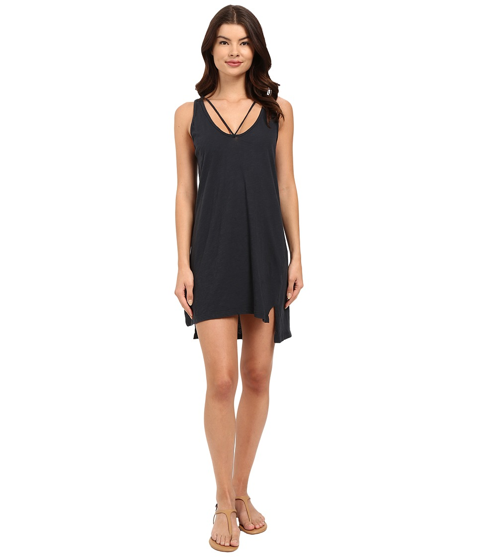 LNA - Strappy Tank Dress (Faded Black) Women's Dress