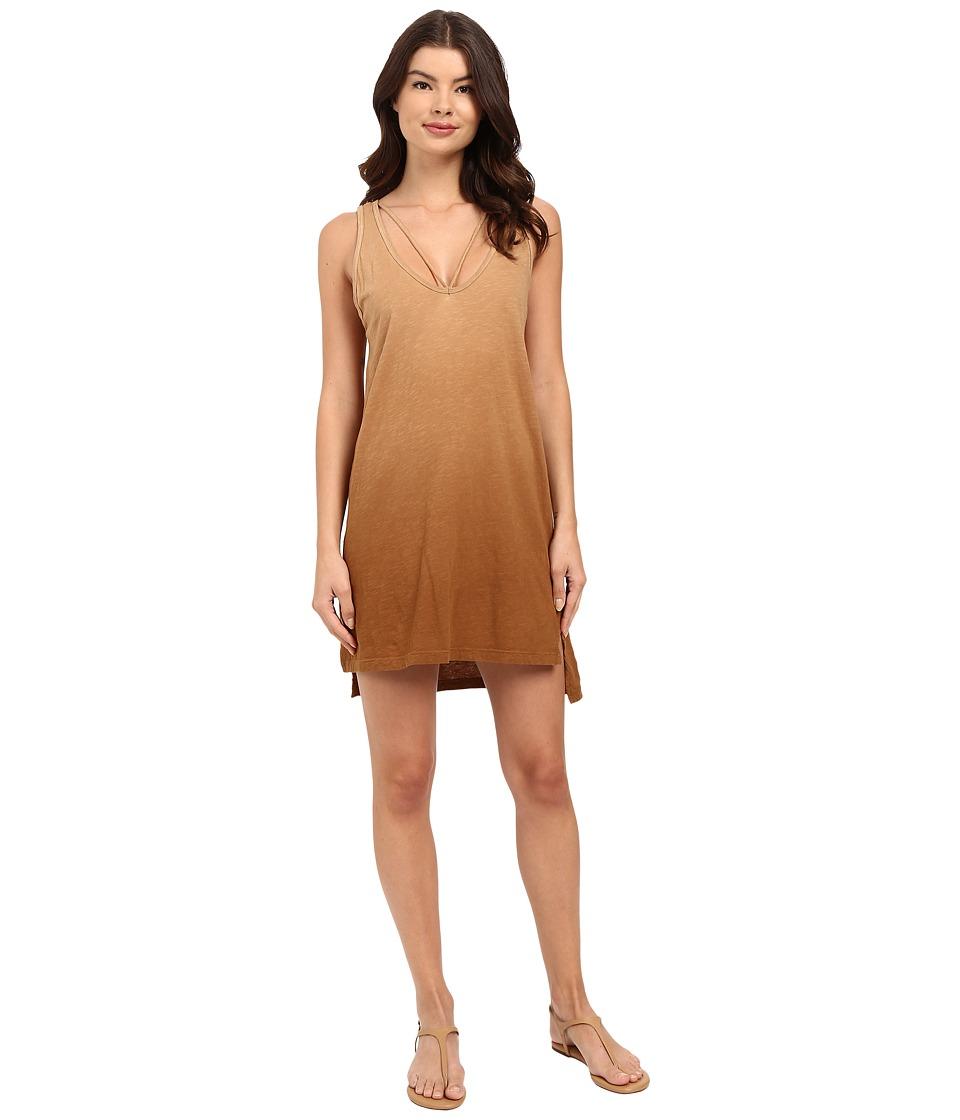 LNA - Strappy Tank Dress (Ombre Khaki) Women's Dress