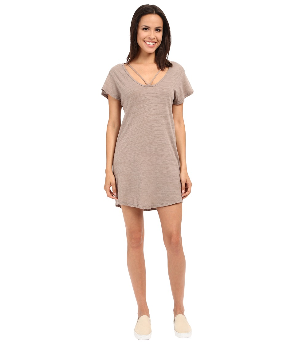 LNA - Strappy Tee Dress (Stone) Women's Dress