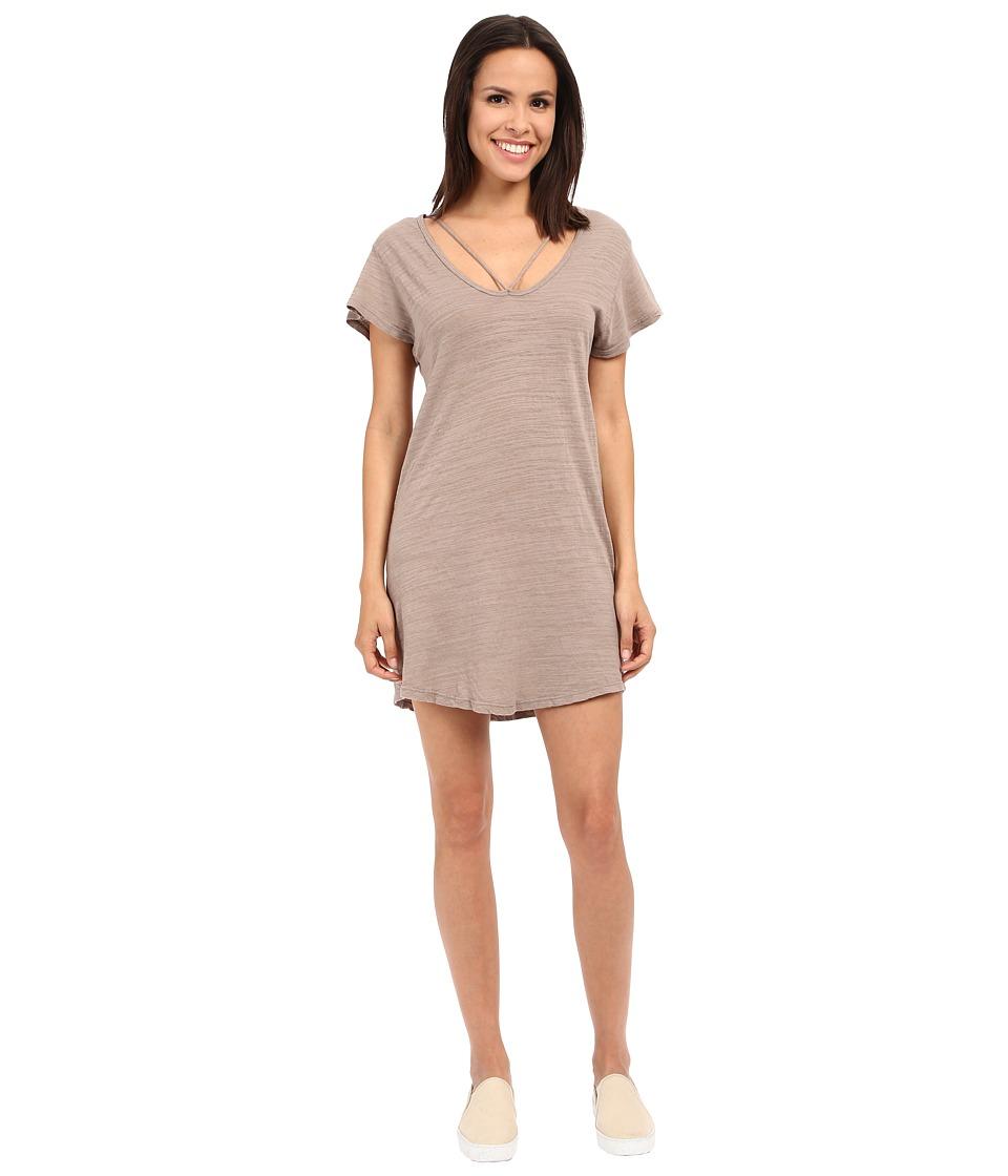 LNA - Strappy Tee Dress (Stone) Women's Dress