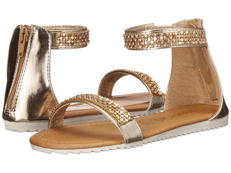 kensie girl Kids - Ankle Strap Sandals (Little Kid/Big Kid) (Gold) Girls Shoes