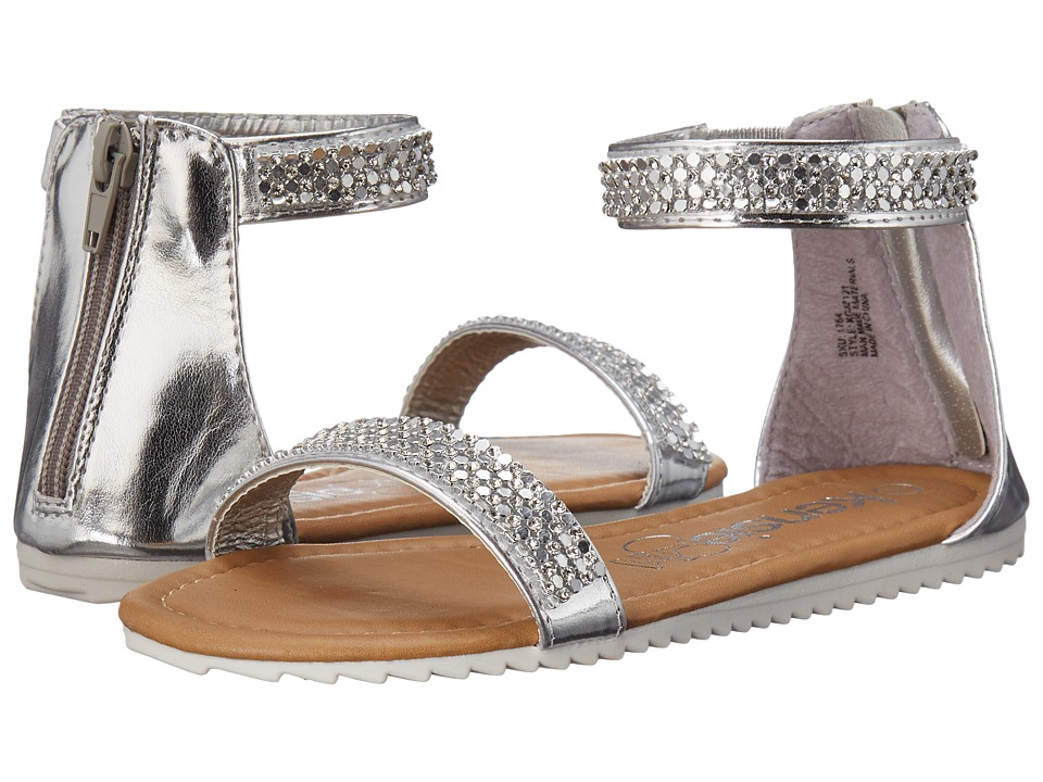 kensie girl Kids - Ankle Strap Sandals (Little Kid/Big Kid) (Silver) Girls Shoes