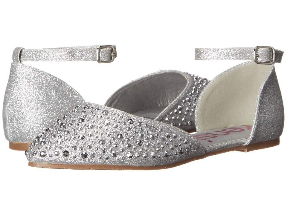 kensie girl Kids - Shine Ballerinas (Little Kid/Big Kid) (Silver Shine) Girls Shoes