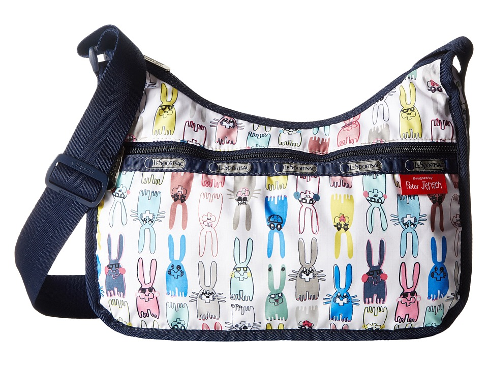 LeSportsac - Classic Hobo Bag (Coloring Book Rabbits) Cross Body Handbags