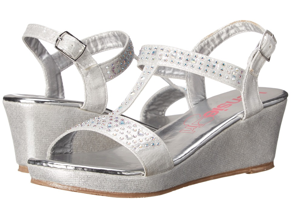 kensie girl Kids - Wedge Sandals with Stones (Little Kid/Big Kid) (Silver Shine) Girls Shoes