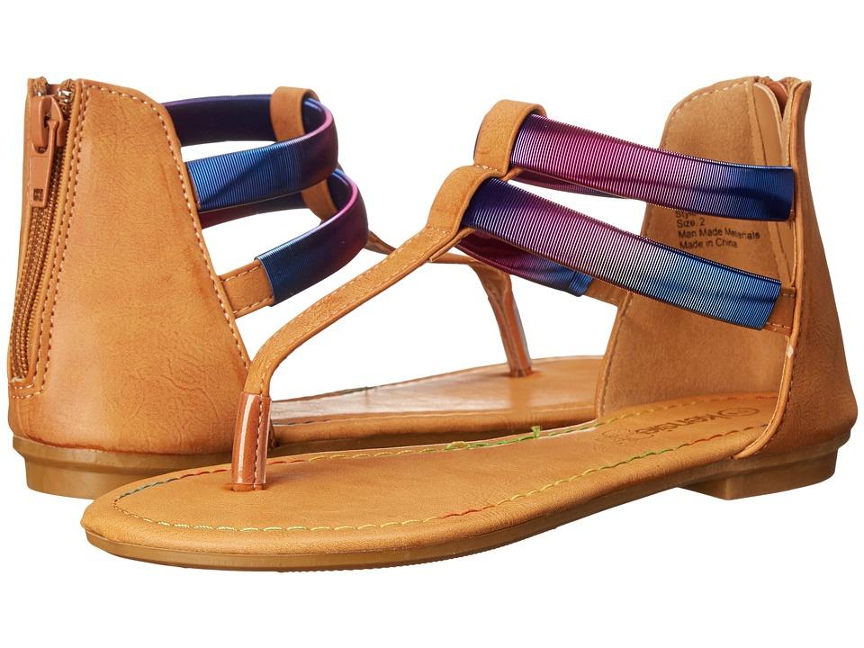 kensie girl Kids - Double Strap Thong Sandals (Little Kid/Big Kid) (Brown Multi) Girls Shoes