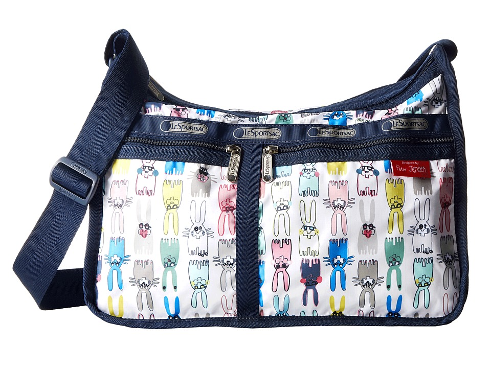 LeSportsac - Deluxe Everyday Bag (Coloring Book Rabbits) Cross Body Handbags
