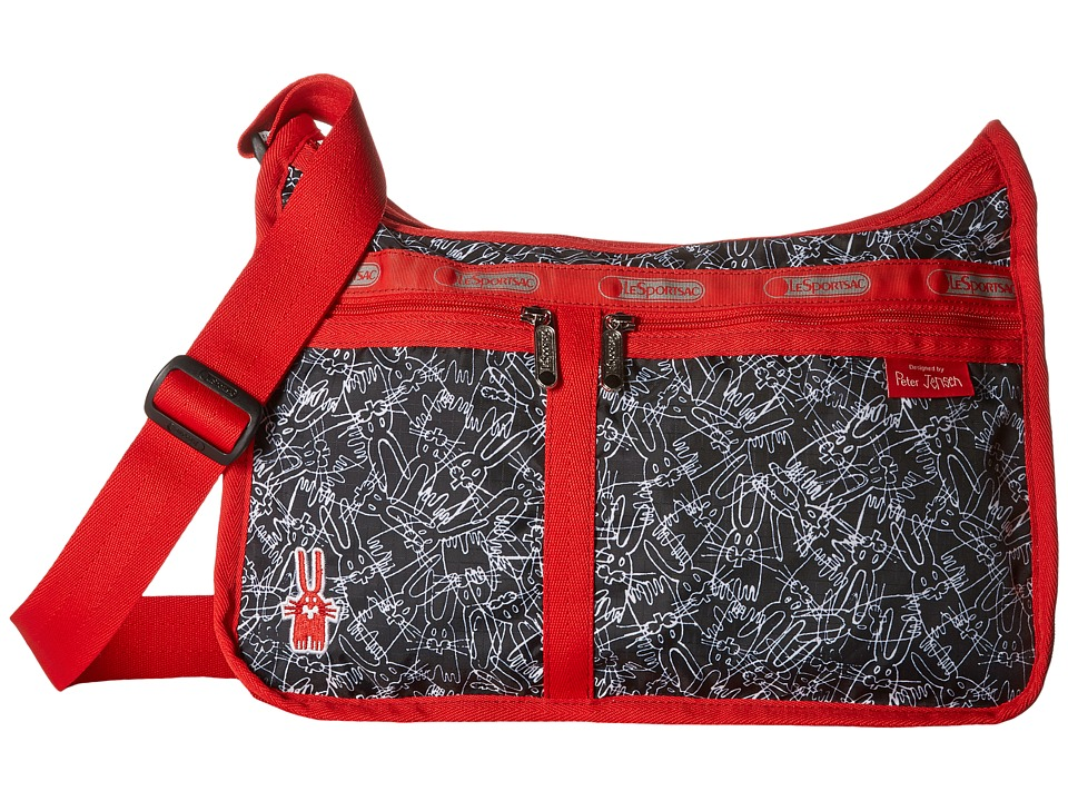 LeSportsac - Deluxe Everyday Bag (Scribble Rabbits) Cross Body Handbags