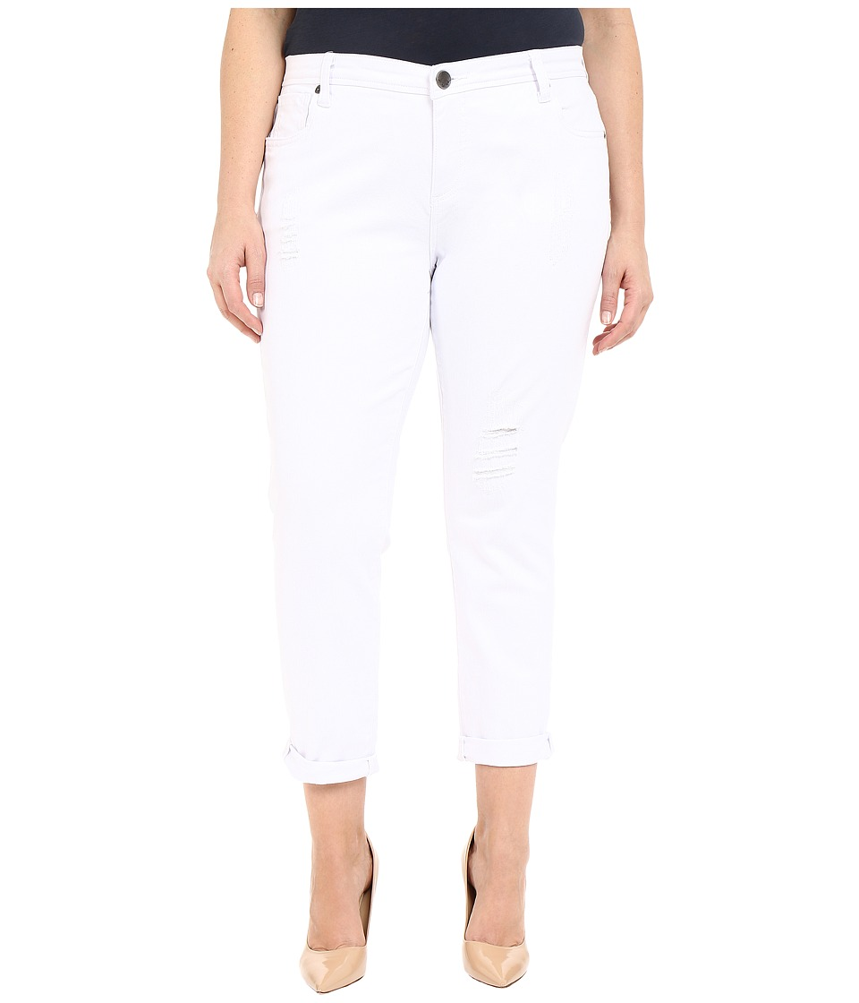 KUT from the Kloth - Plus Size Adele Slouchy Boyfriend in White (White) Women's Jeans