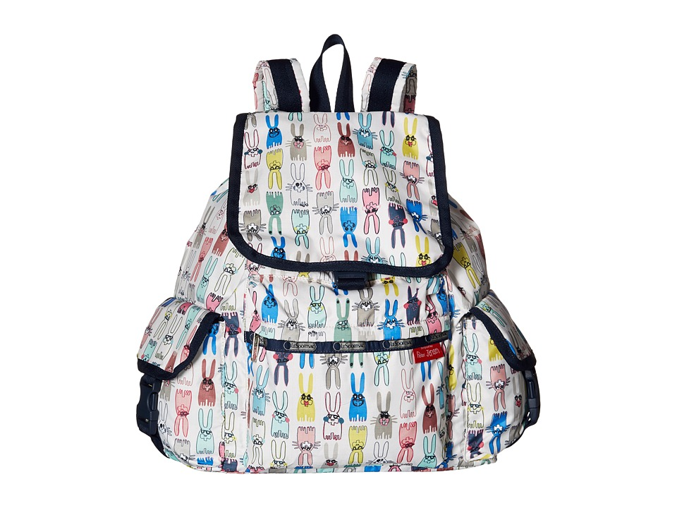 LeSportsac - Voyager Backpack (Coloring Book Rabbits) Backpack Bags