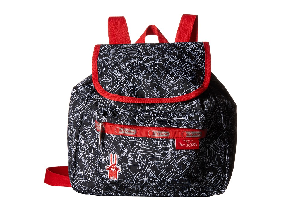 LeSportsac - Small Edie Backpack (Scribble Rabbits) Backpack Bags