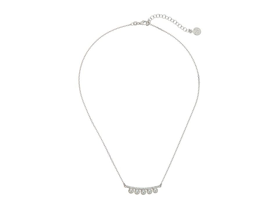 Majorica - Brooke Necklace (Silver/White) Necklace