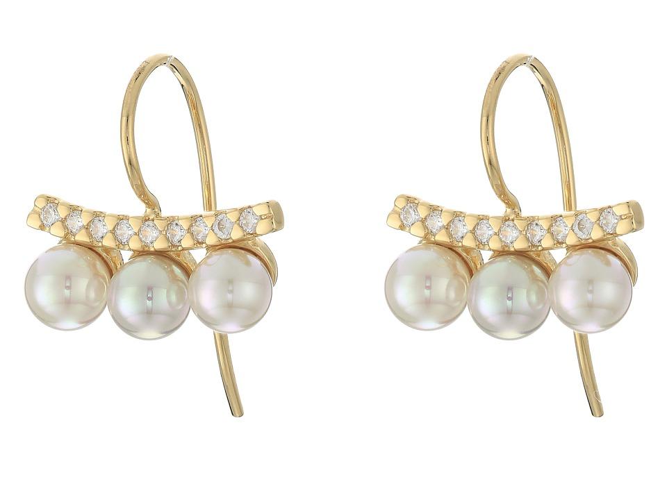 Majorica - Brooke Earrings (Gold/White) Earring