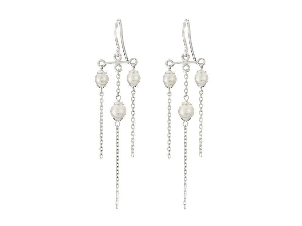 Majorica - Willow Earrings (Silver/White) Earring