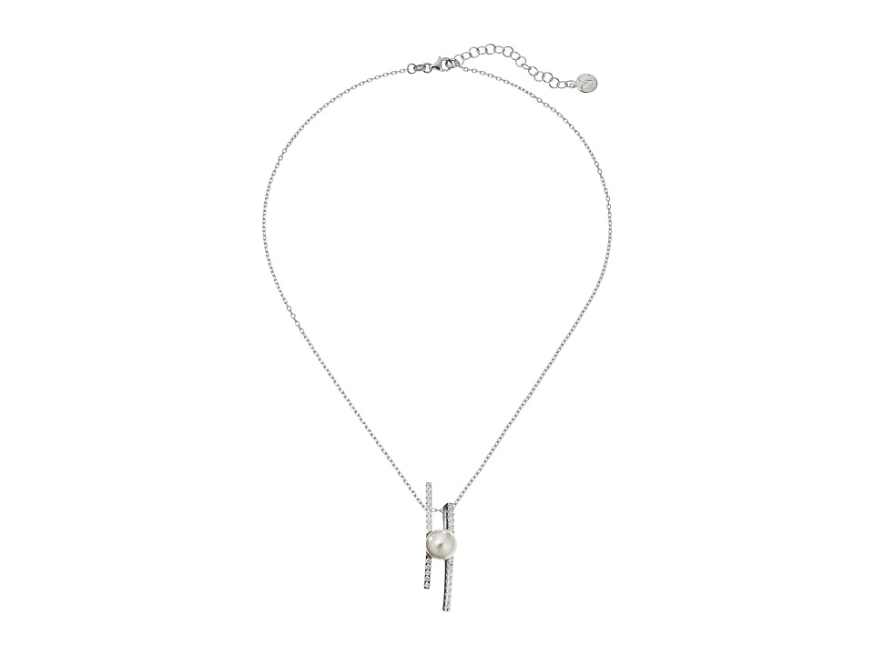 Majorica - Kate Pendant Necklace (Silver/White) Necklace