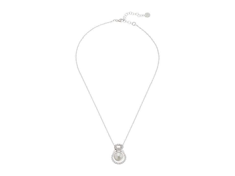 Majorica - Diana Pendant Necklace (Silver/White) Necklace