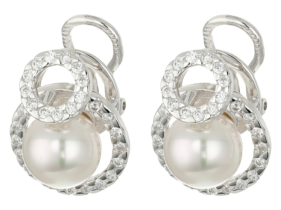 Majorica - Diana Earrings (Silver/White) Earring