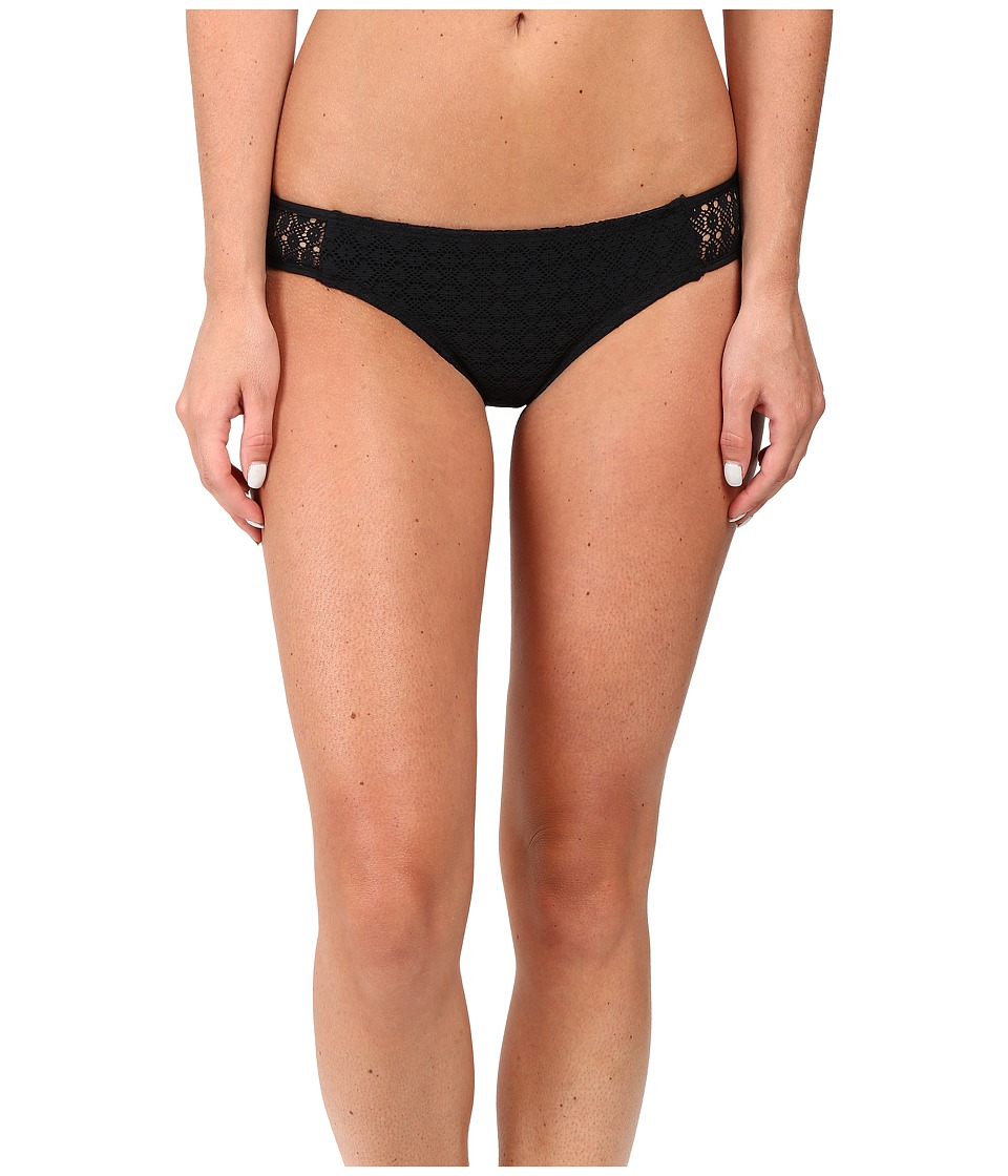 Roxy - Doted Crochet Scooter Swim Bottom (True Black) Women's Swimwear