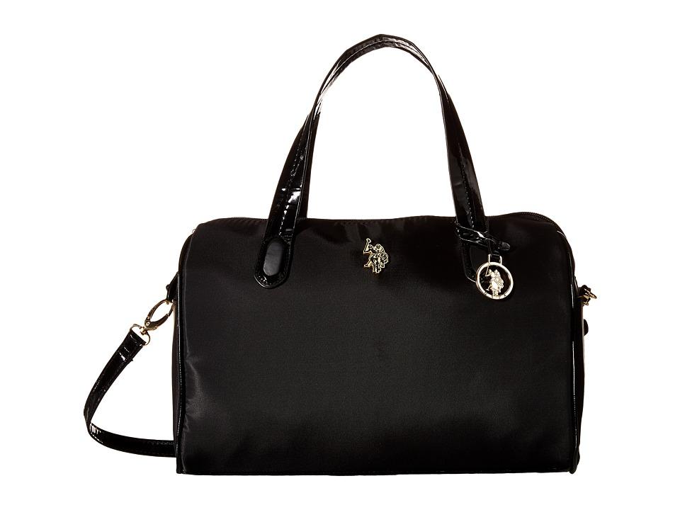 U.S. POLO ASSN. - Bolton Satchel (Black) Satchel Handbags