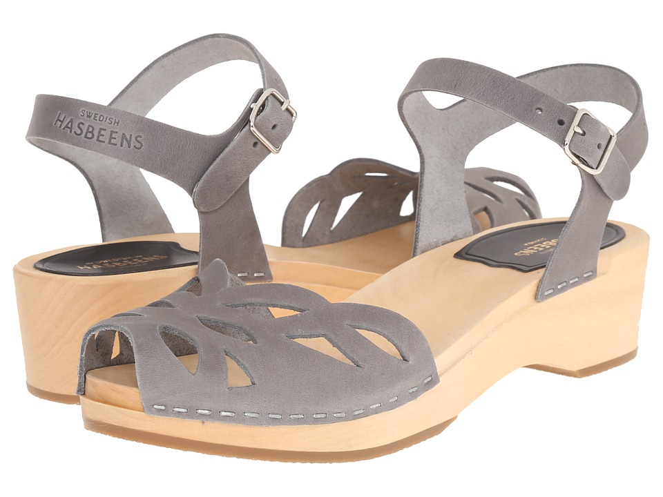 Swedish Hasbeens - Ornament Clog (Dark Grey) Women's Sandals