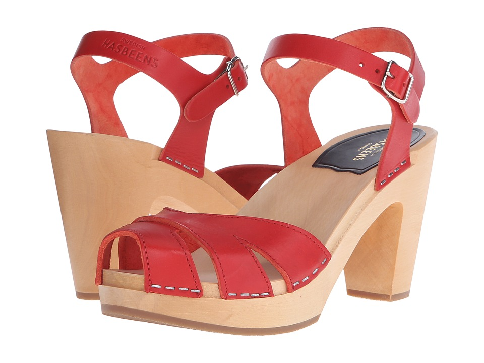 Swedish Hasbeens - Suzanne (Red) High Heels