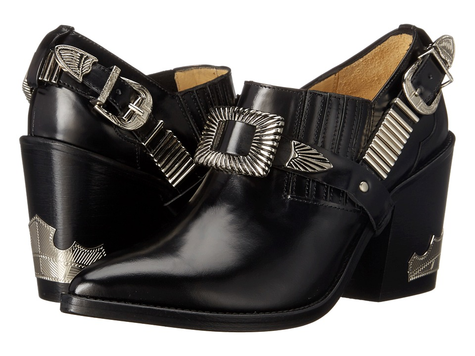 Toga Pulla - AJ728 (Black Leather) Women's Shoes