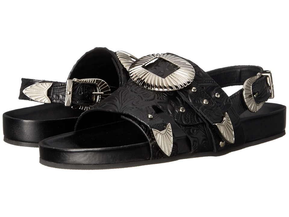 Toga Pulla - AJ699 (Black Embossed) Women's Shoes
