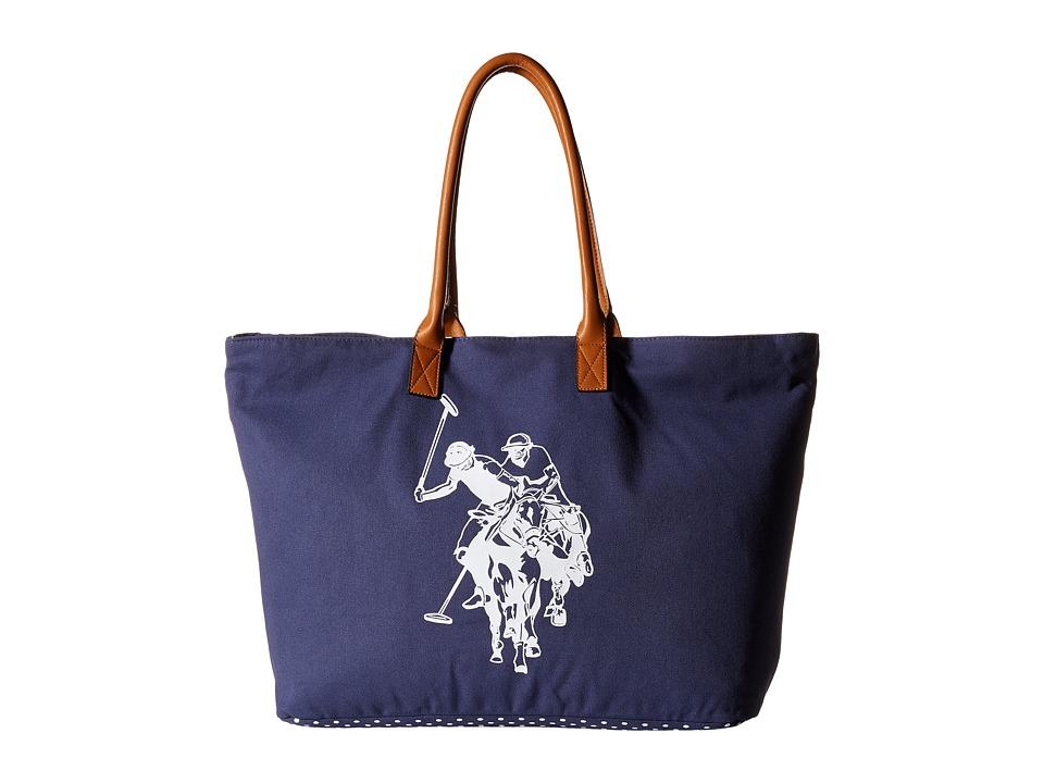 U.S. POLO ASSN. - Branded Canvas Tote (Patriot Blue) Tote Handbags