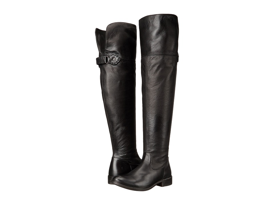 Frye - Shirley Over-The-Knee Wide (Black Smooth Vintage Leather Extended) Women's Boots
