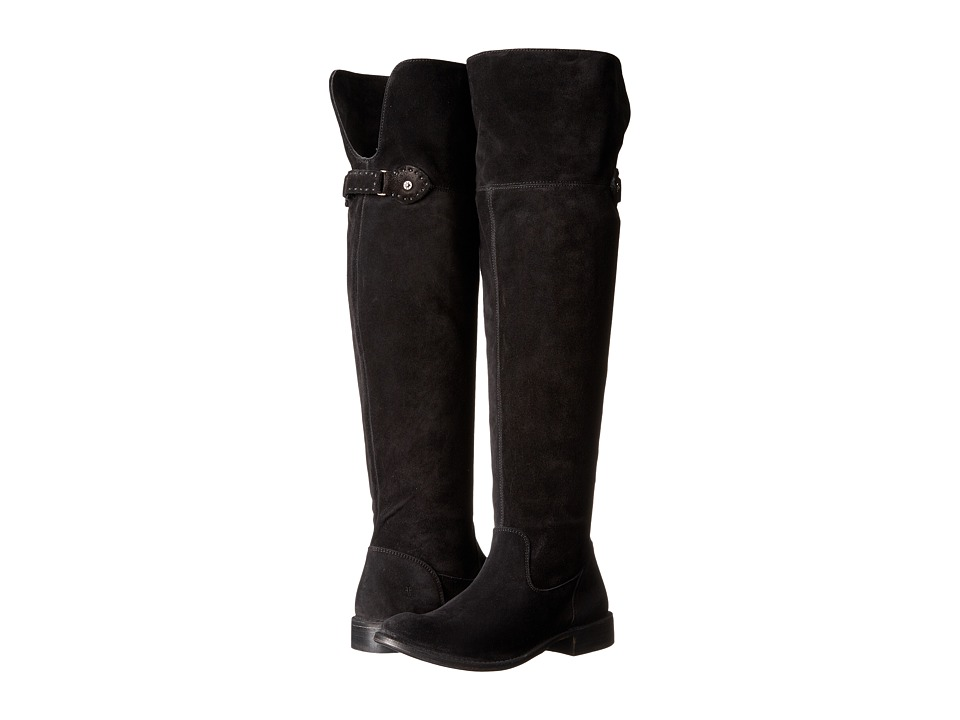 Frye - Shirley Over-The-Knee Wide (Black Soft Oiled Suede Extended) Women's Boots