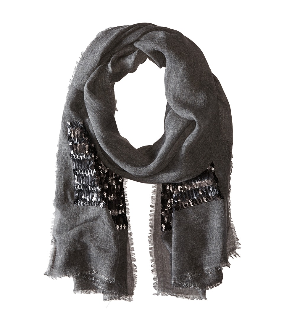 Vince Camuto - Sequin Treasure Wrap (Black) Scarves