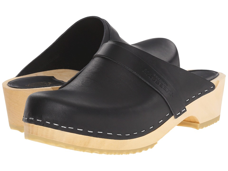 Swedish Hasbeens - Swedish Husband (Black) Women's Clog Shoes