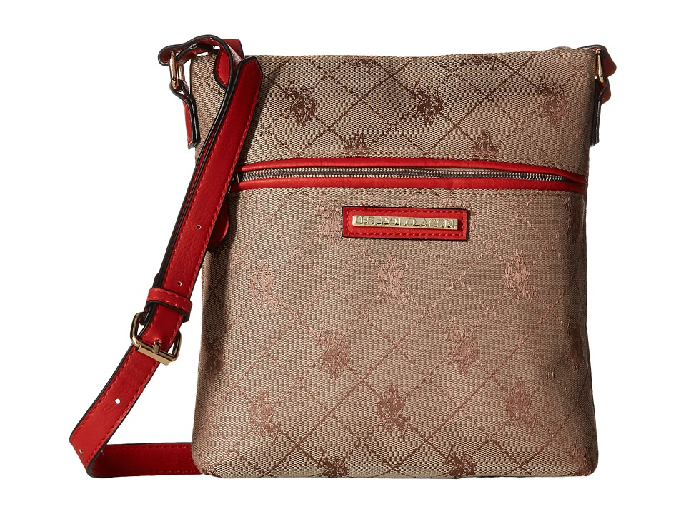 U.S. POLO ASSN. - New Fulton Crossbody (Tan) Cross Body Handbags