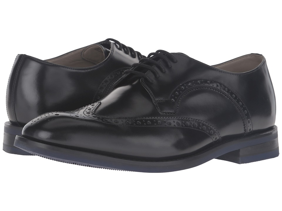 Clarks - Swinley Limit (Black Leather) Men's  Shoes