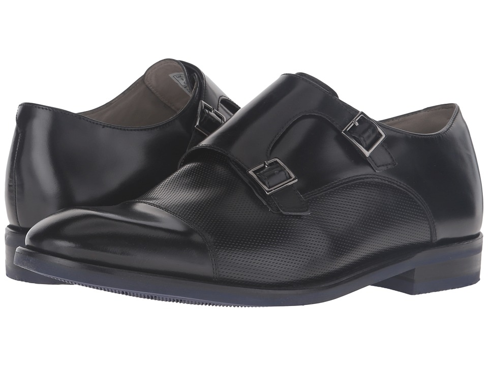 Clarks Swinley Monk (Black Leather) Men