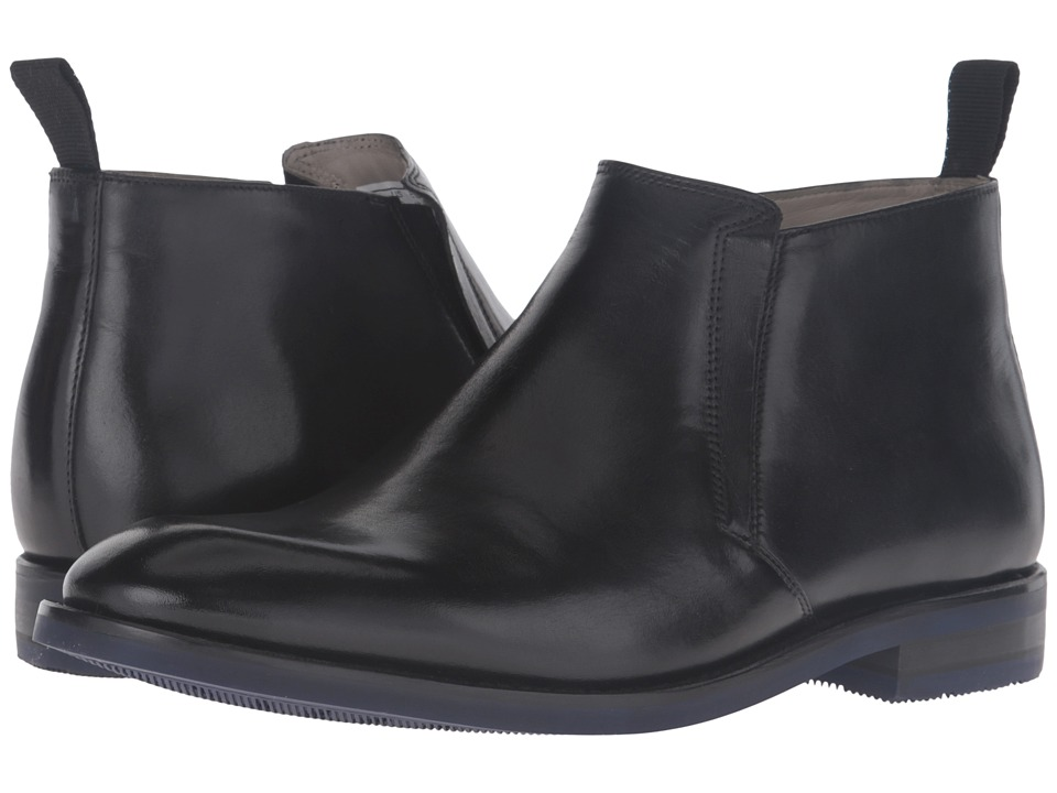 Clarks Swinley Mid (Black Leather) Men