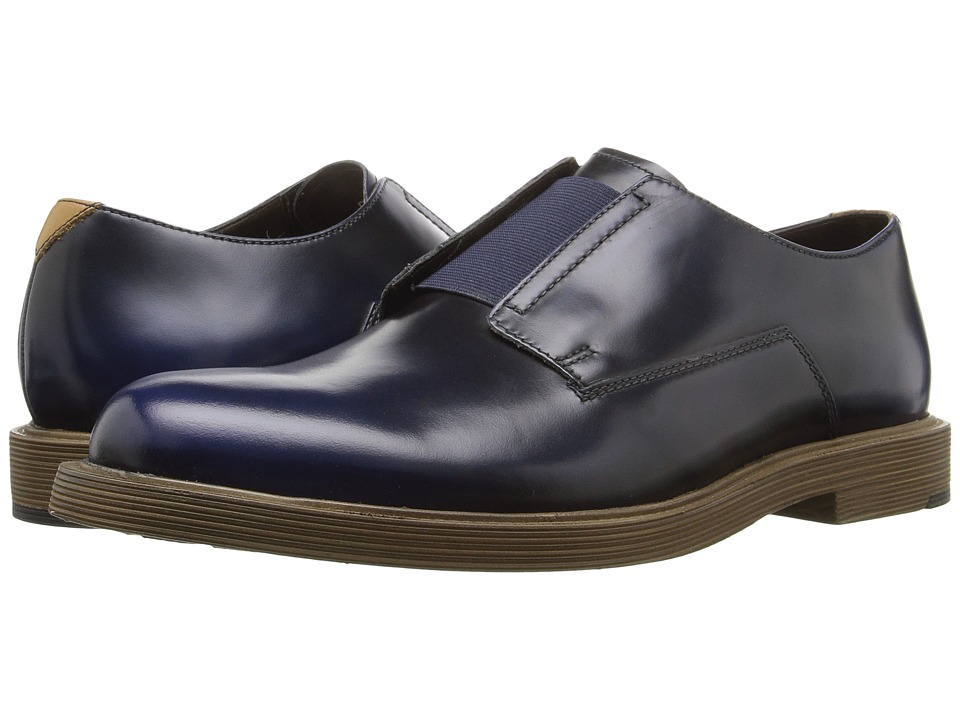 Clarks - Feren Slip (Blue Leather) Men's Slip-on Dress Shoes