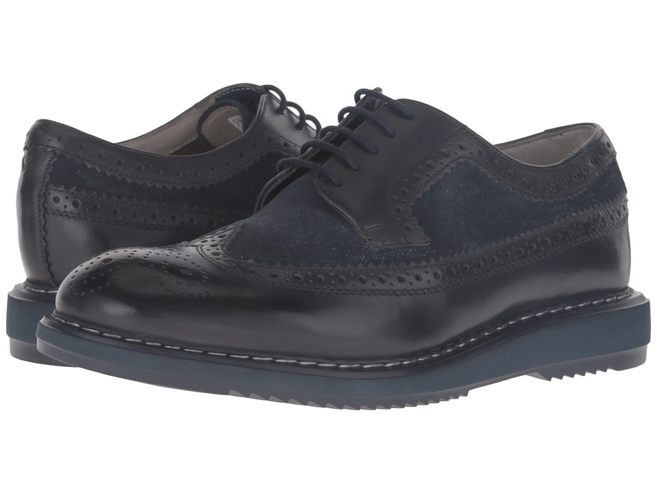 Clarks - Kenley Limit (Dark Blue Combi) Men's Shoes